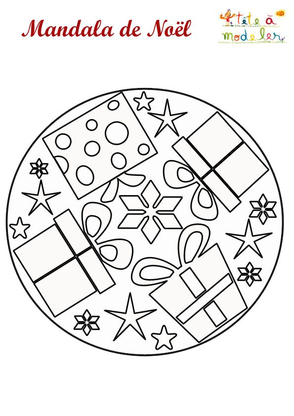 Mandala cadeaux de noël - Tête à modeler | Pinterest | Mandala ...