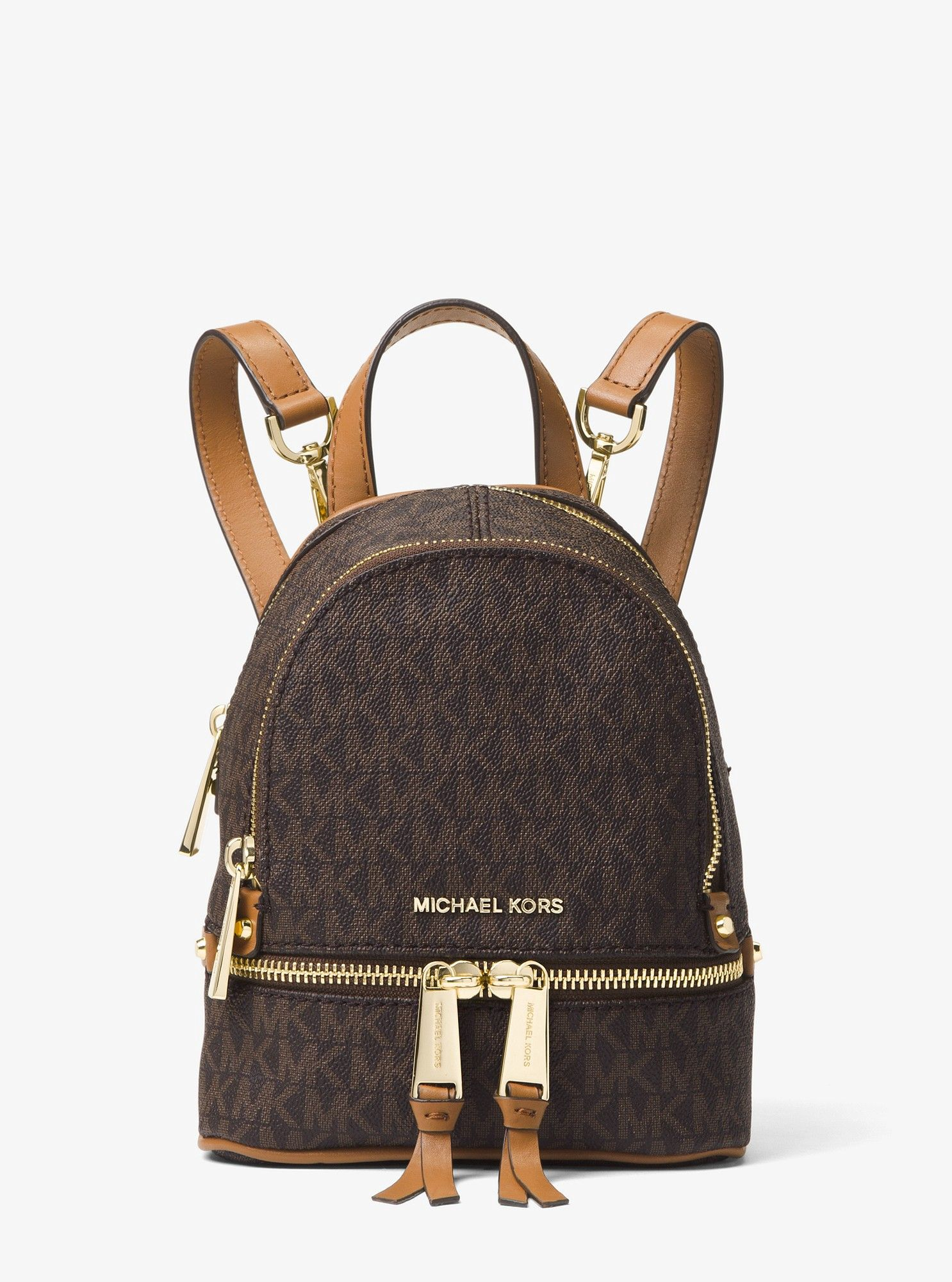 474fae57270b Michael Kors Rhea Mini Logo Backpack - Brown in 2019 | Products ...