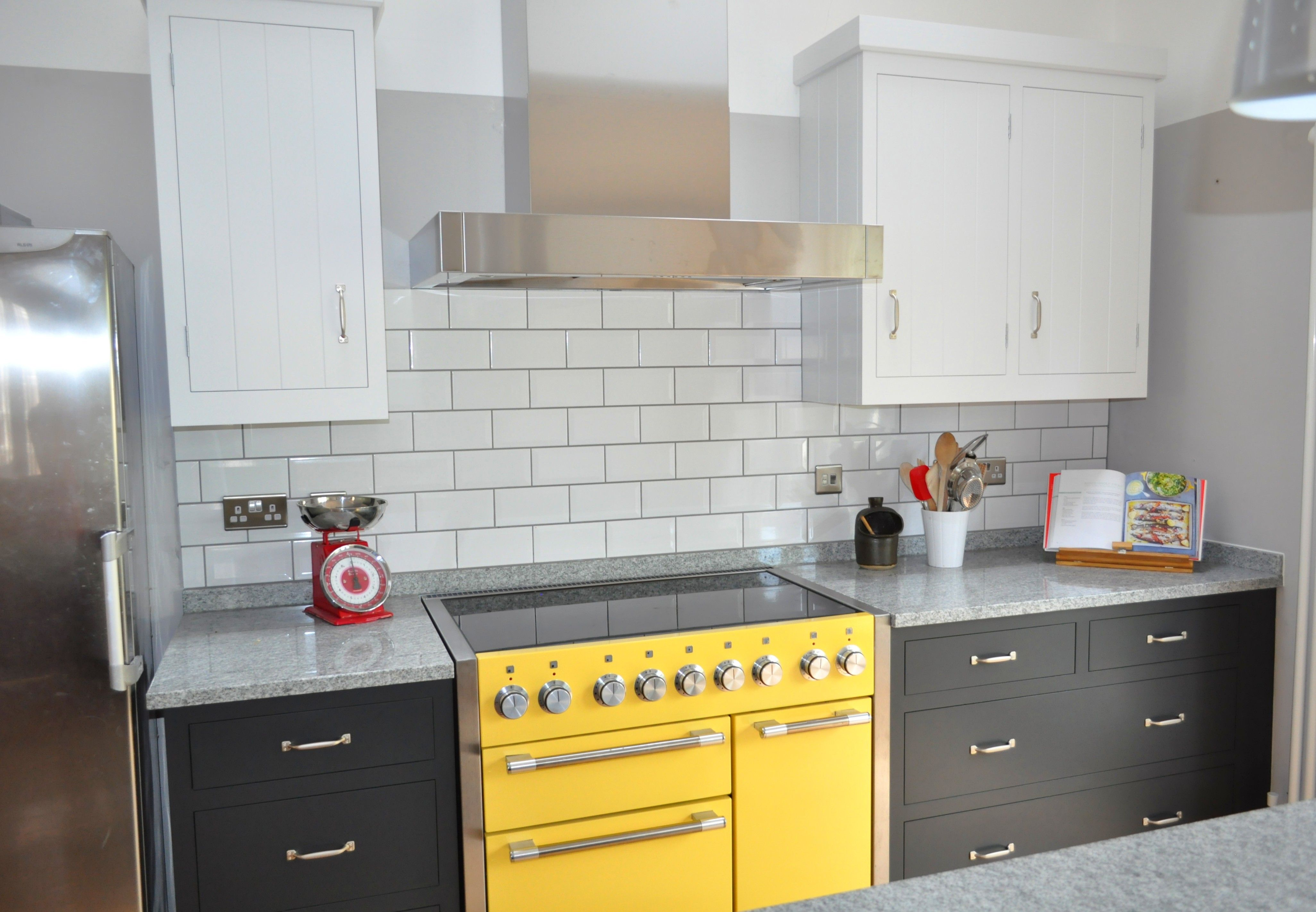 Scandi Style Bespoke Kitchen By Design Matters With Yellow Mercury Range  Oven