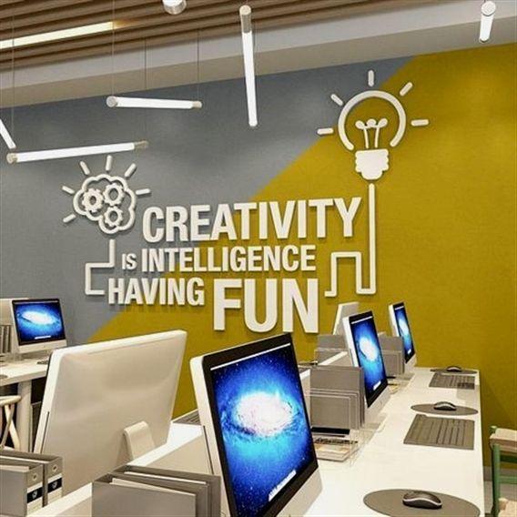Büro Wandkunst Aufkleber Dimensionale Buchstaben Wand