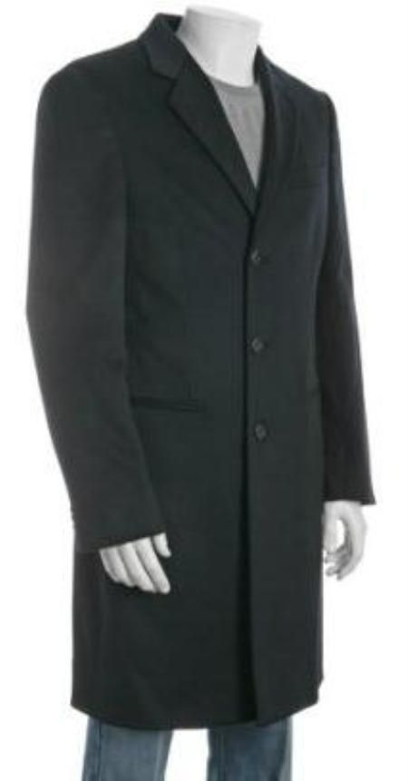 4c87c518c908 38 inch Three-button Notch Lapel Side Vented navy blue Wool-Blend 3 ...