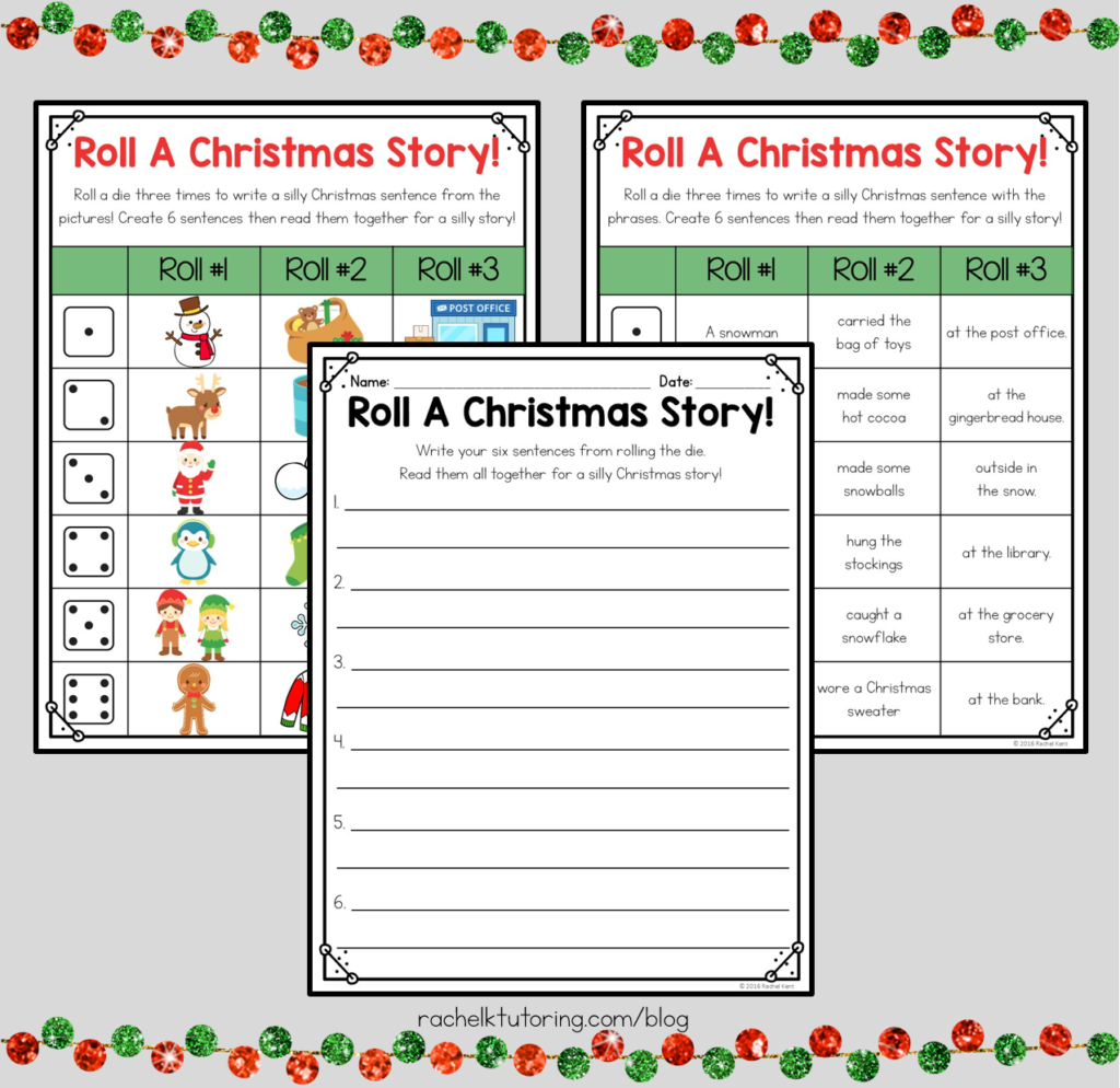 Free Christmas Writing Activity