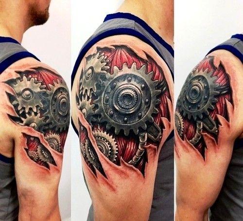 Mit Einem Biomechanik Tattoo Zum Alien Cyborg Werden Tat