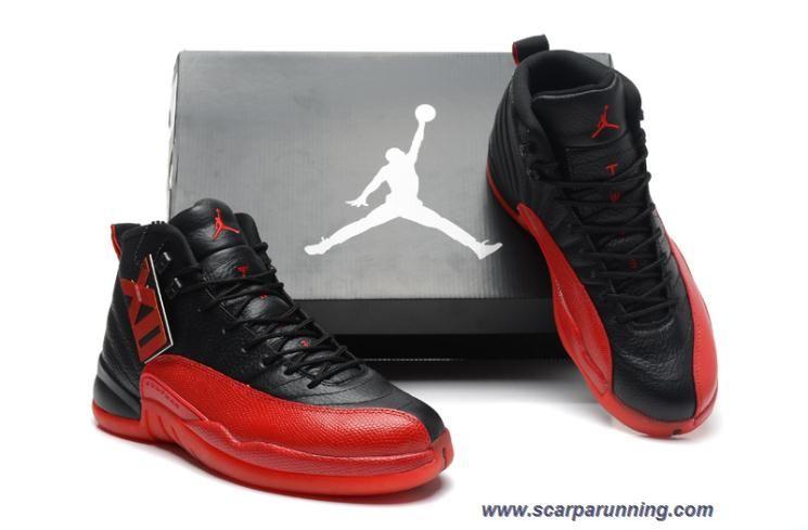 dab82d5846 scarpe eleganti 130690-061 AIR JORDAN 12 RETRO Rosso/Nero FLU GAME scarpe  firmate on line
