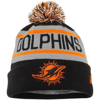 4bc099a918d New Era Miami Dolphins Black Cuffed Knit Hat