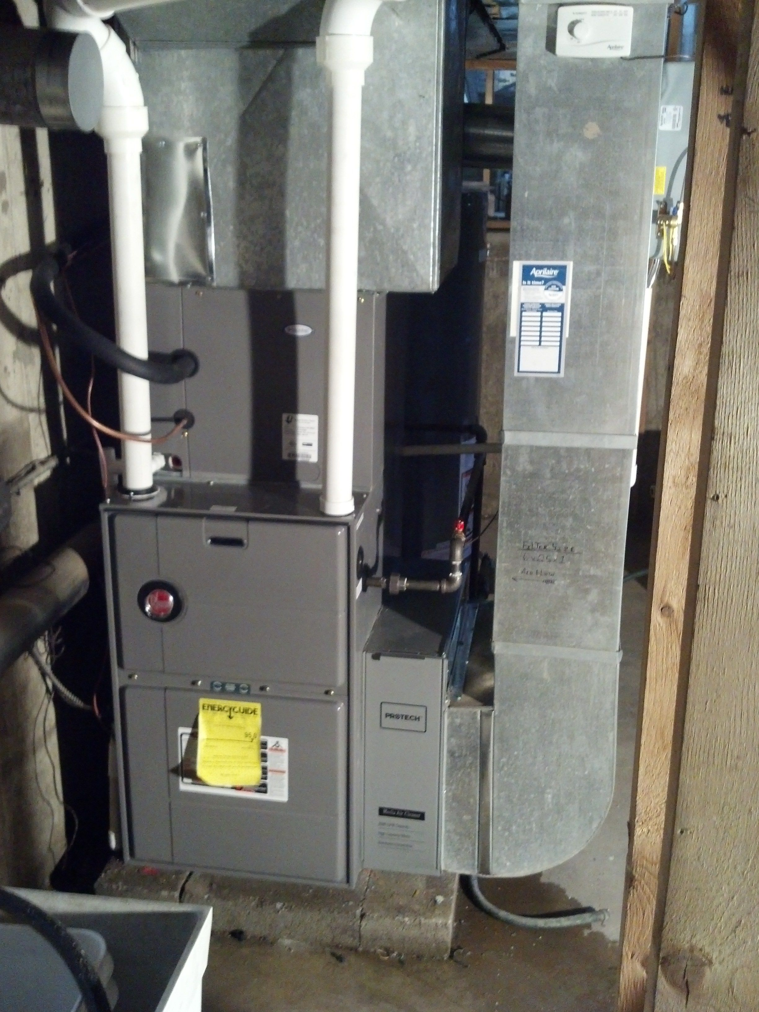 Front Rheem Rgrc Classic Series 95 High Efficiency Gas Furnace