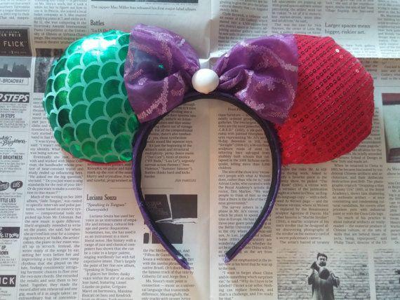 Accessories ariel ears little mermaid ears disney ears mickey ears minnie ears mickey mouse ears minnie mouse ears one of a kind mermaid ears