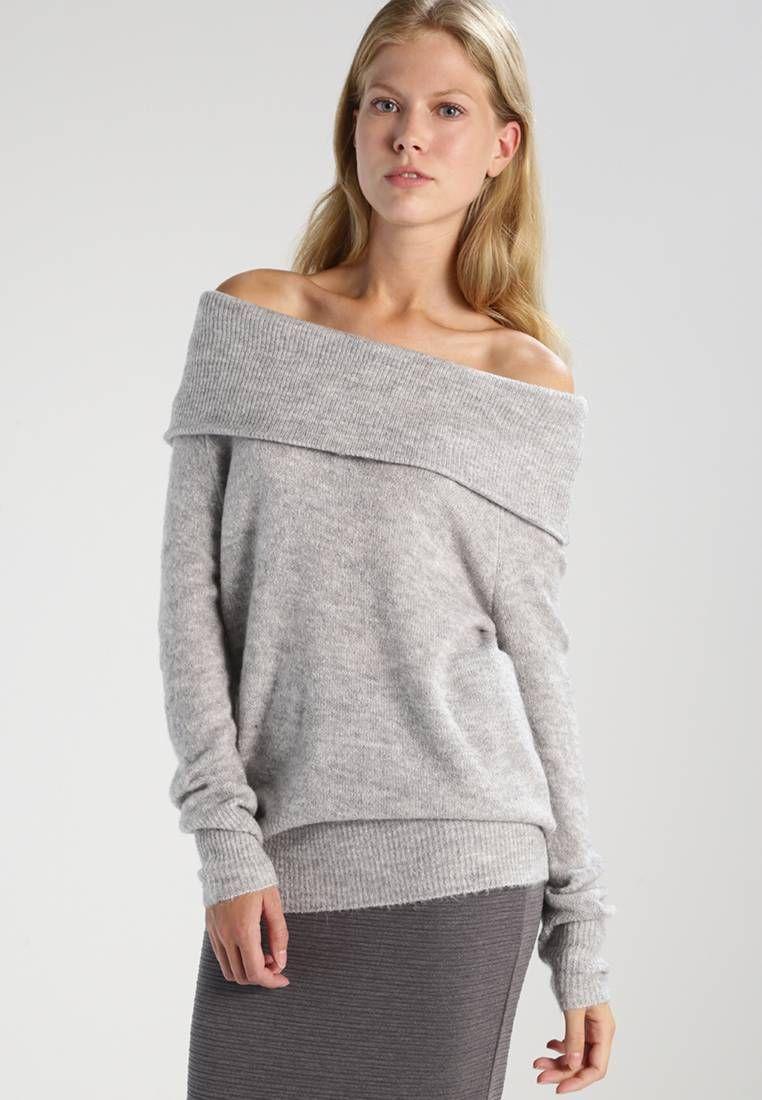 JDY. JDYALICE - Sweter - light grey melange. Materiał:75% poliakryl,