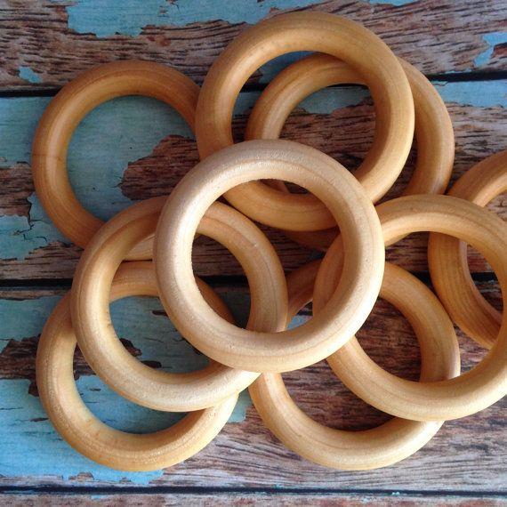 Maple Teething Rings 100 Certified Organic by NatureBubz on Etsy, $17.50