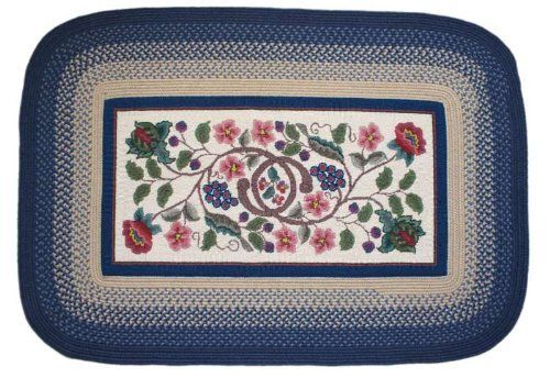 Braided Hook Braided Rugs - Williamsburg 5x8 Rounded Rectangle Braided Rug by Rhody Rugs. $209.99. Guaranteed to lie flat!. Quality Crafted in New England. Available in matching Chair Pads and Stair Treads!. 85% Wool 15% Polypropylene. 5x8 Rounded Rectangular Braided Rug. Braided Hook Rug Collection are one of the finest and most luxurious collections of braided rugs available. A hooked rug center surrounded by a braided rug border gives you the best of both wor...