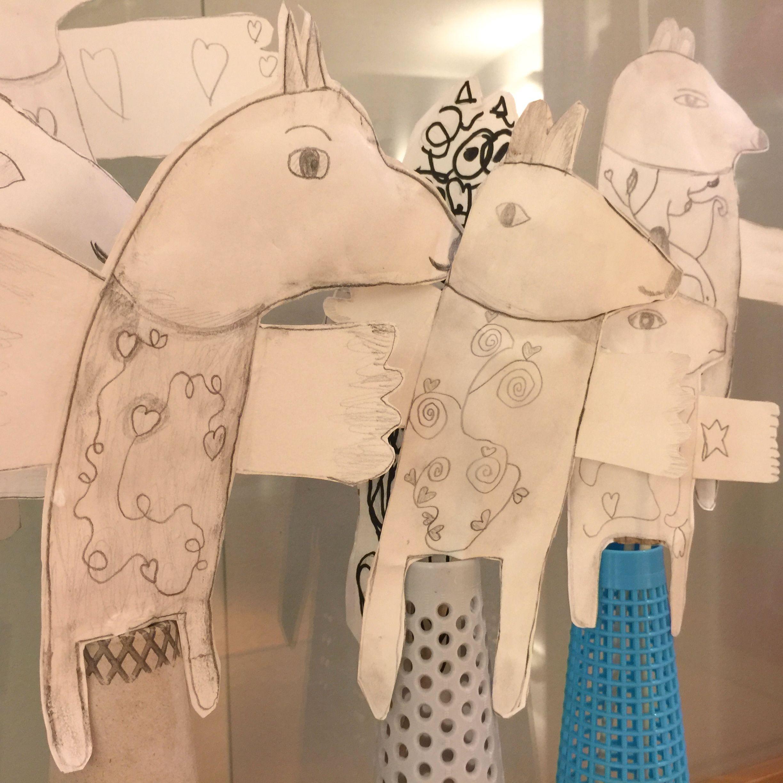 Paper figures. 3rd grade