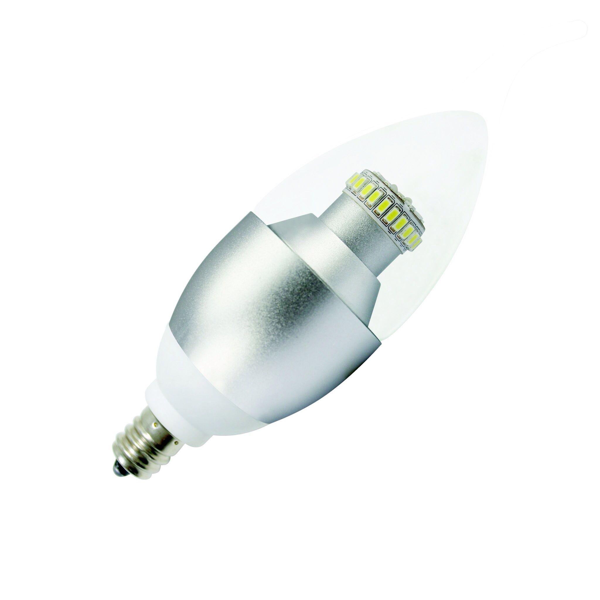 tForce 6W LED E14 Candle Light Bulb Clear Cover