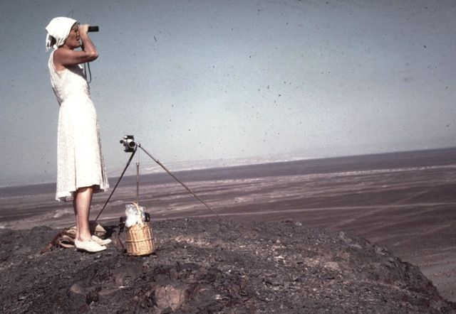 Maria Reiche mapping the nazca lines