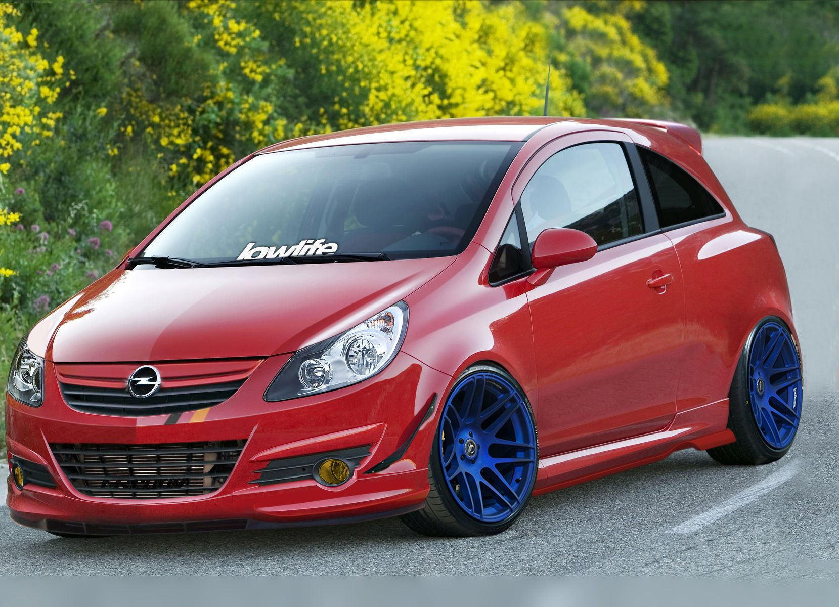 Opel Corsa Gsi Stance Low Tuning Photoshoped Opel Corsa Car Opel