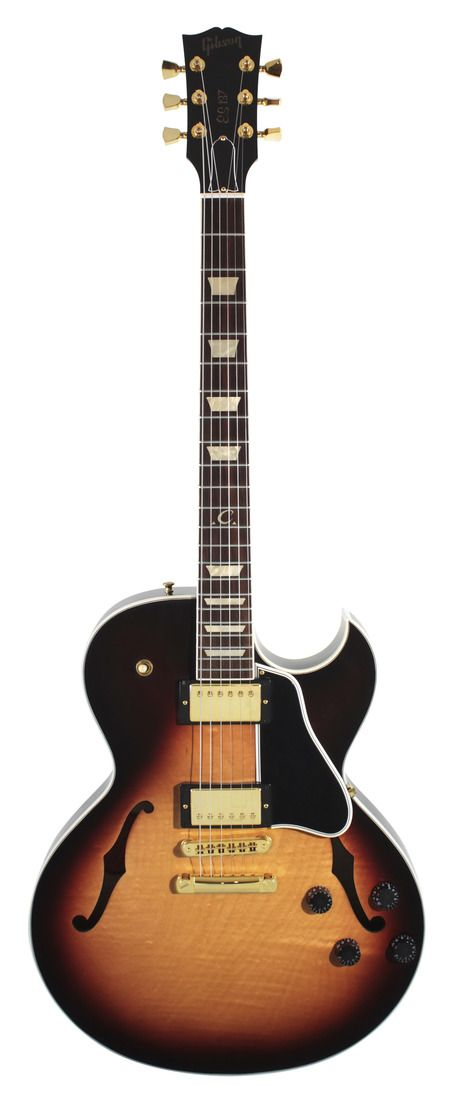Gibson Electric Guitar ES-137 Classic Triburst with Gold Parts | Rainbow Guitars  This guitar is the most beautiful thing I've ever seen!!!!!!!!