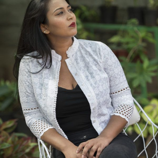 Stunning White on White Crop Top Jacket   Lush Bazaar
