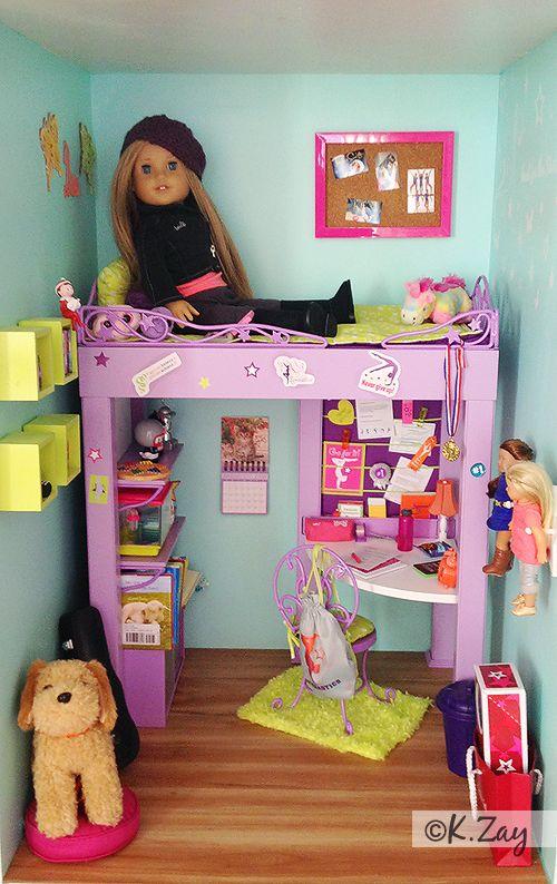 American Girl Mckenna S Bedroom By Kim Zay Www Agdesigncraftcreate