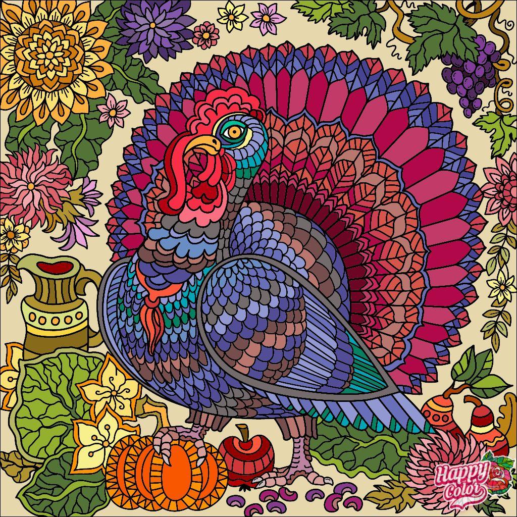 Pin by ÐлÑга ЧеÑнÑÑева on Thanksgiving | Coloring ...