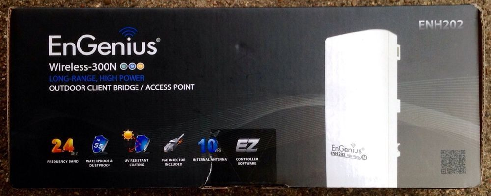 EnGenius ENH202 800mW Outdoor Wireless Access Point 802.11b//g//n AP//Client//Bridge