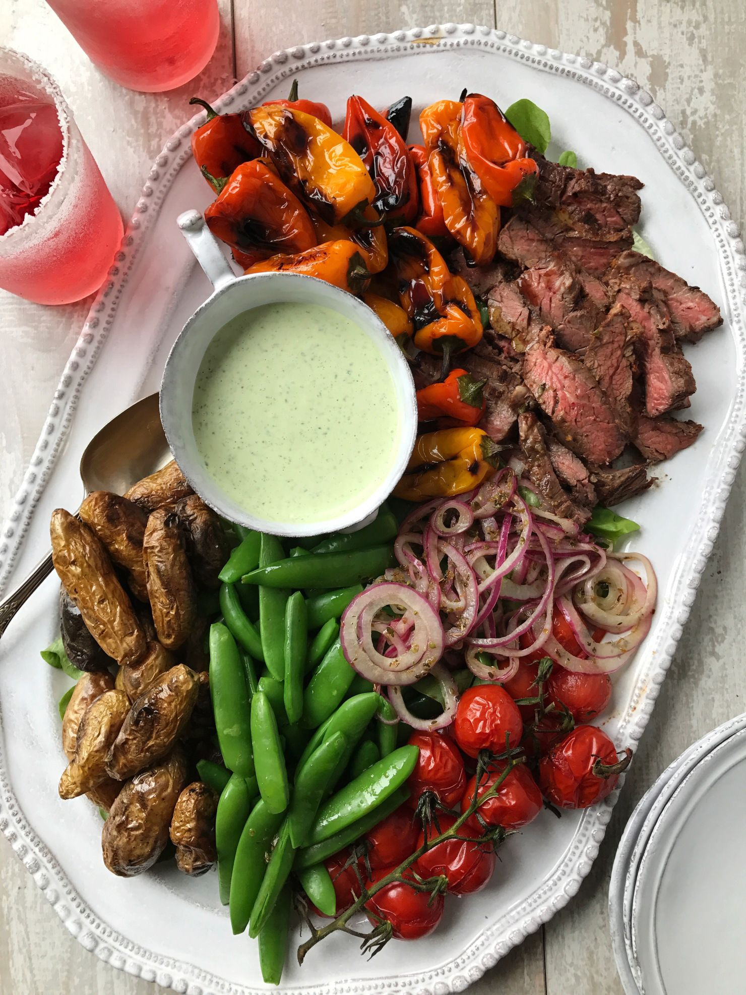 Watch Blackened Skirt Steak BLT Salad video