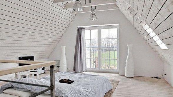 Schlafzimmer mit Dachschräge gemütlich gestalten in 2020