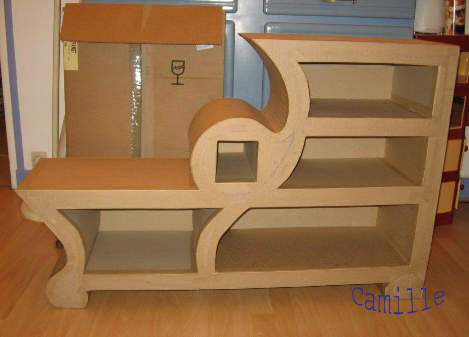 comment cr er un meuble en carton carton meubles pinterest meuble en carton comment. Black Bedroom Furniture Sets. Home Design Ideas
