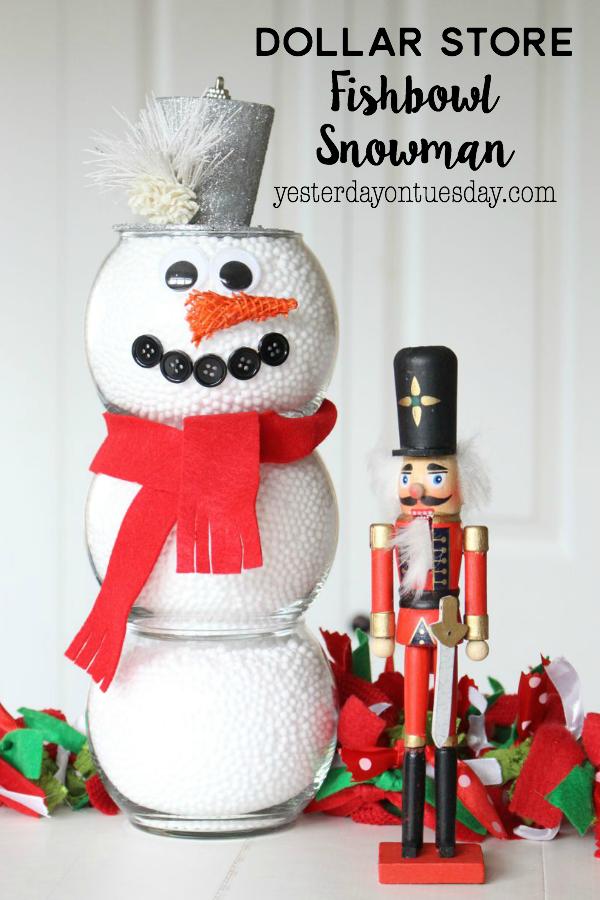 Dollar Store Fishbowl Snowman 11 Fun Easy Christmas