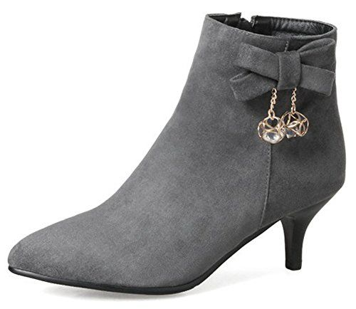 848588b35d 10 Must Have Stylish Fall Boots for Women | Aisun Rhinestone Faux Suede  Inside Zip Up Pointed Toe Booties Kitten Heel Ankle Boots with Bows, Women  Mid Calf ...