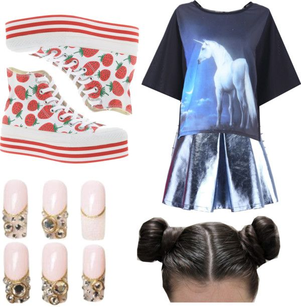 """so kawaii?"" by moonblooming ❤ liked on Polyvore"