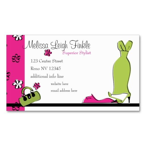 spring fling fashion business card card templates and business cards