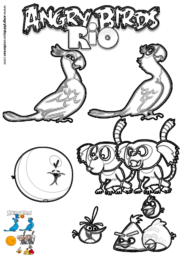 angry birds rio printables | images of angry birds rio coloring ...