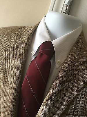 BROOKS BROTHERS Silk Linen & Wool E. THOMAS Houndstooth 1818 MADISON Blazer 41R