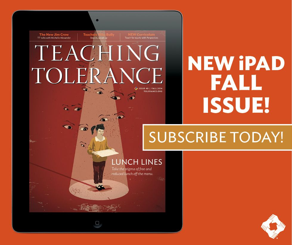 """Our Fall issue is here! Read about lunch-line stigma, teacher bullying and elementary-school activism, and learn about """"The New Jim Crow"""" from author Michelle Alexander."""
