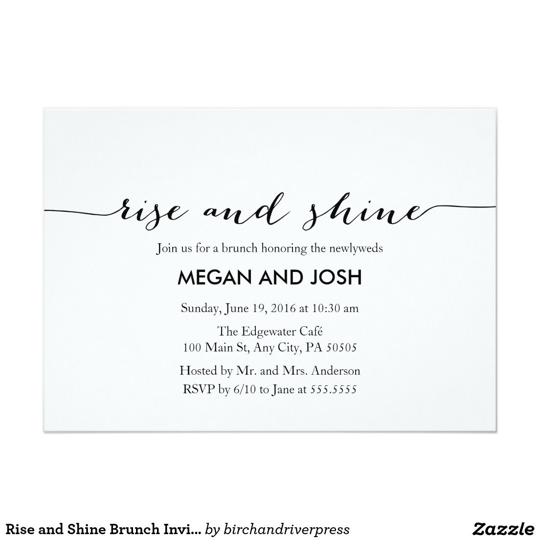 Rise And Shine Brunch Invitation Wedding Bridal Brunch Wedding