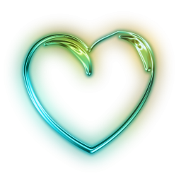 Glowing Green Neon Icon Culture Heart 3d Sc44 Png 256 256 Photography Backdrops Transparent Icon