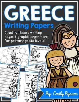 Greece Writing Pages