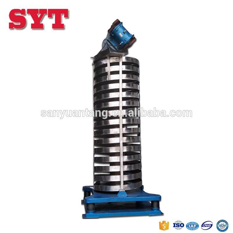 vibration screw conveyor PVC particles vertical elevator