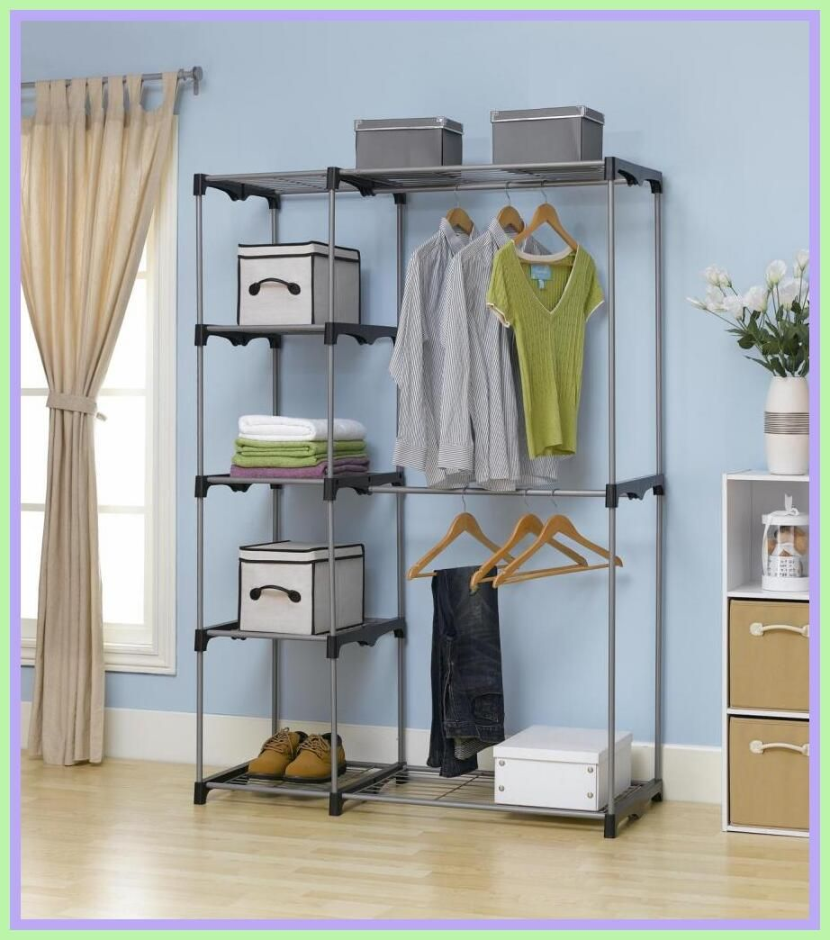 48 Reference Of Hanging Rack Closet Organizer In 2020 Portable Clothes Rack Clothes Hanger Rack Storage Closet Organization