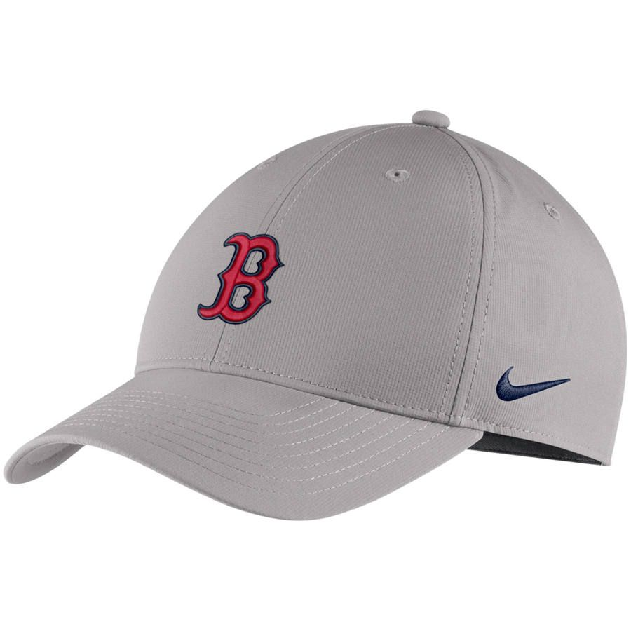 Men s Boston Red Sox Nike Gray Legacy 91 Adjustable Hat 764ed70849c