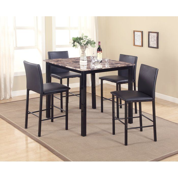 noyes 5 piece counter height dining set in 2019 mi peque o pedazo rh pinterest com