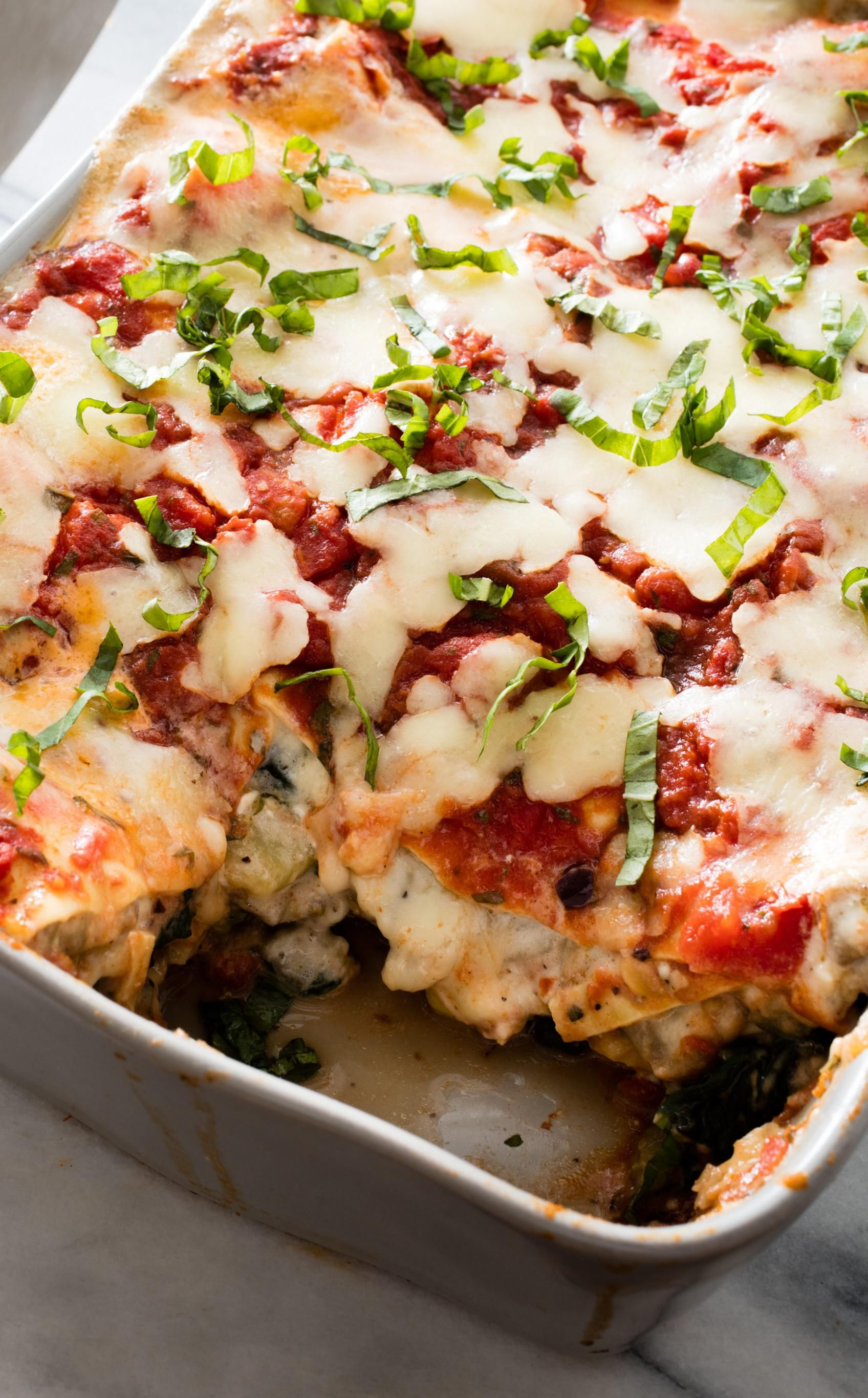 Vegetable Lasagna Using Cottage Cheese Instead Of Ricotta May Be Controversial But It Adds Undeniable Extra Crea Vegetable Lasagna Lasagna Vegetarian Dinners
