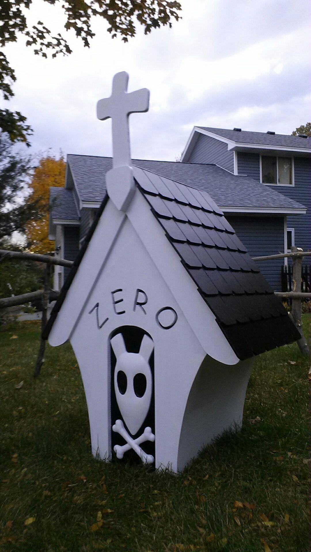Zero Doghouse Nightmare Before Christmas Halloween Deco Dog Houses