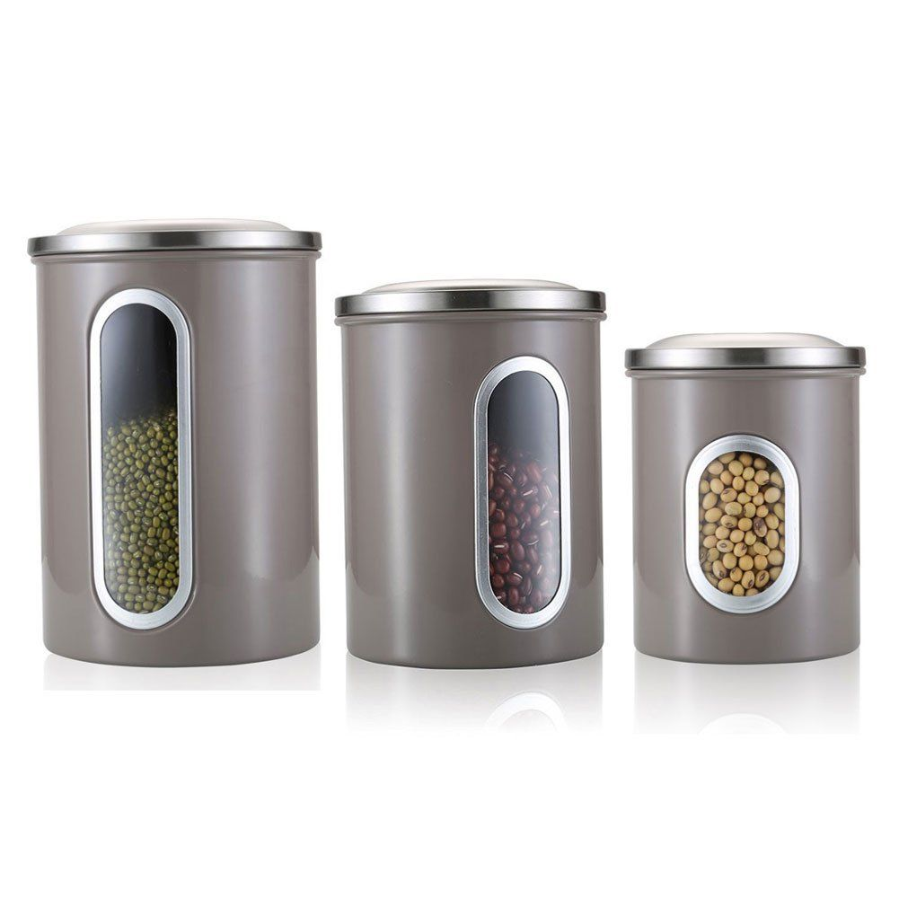 Amazon.com: Fortune Candy 3 Piece Nested Kitchen Canisters With Airtight  Lids, Window