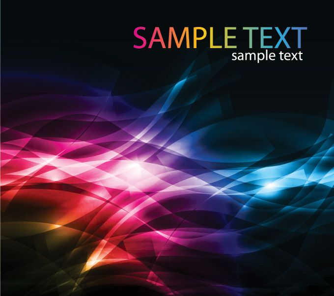dark and colorful abstract free vector background with wave light streaks  excellent free