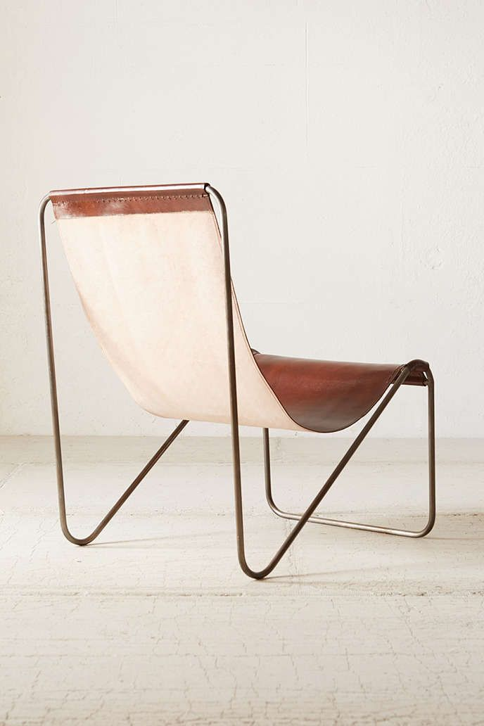 Maddox Leather Sling Chair Urban Outfitters Chairs