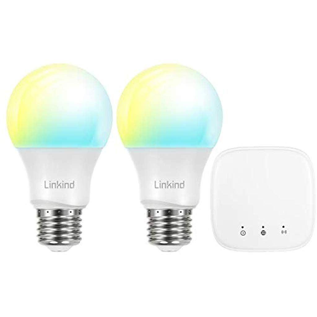 Linkind Smart E27 Led 9w Lampe Starter Set 2 Lampen Bridge Inkl Via App Steuerbar Farbtemperatur 2700k 6500k Helligkeit 1 100 Kompatib Led Lampen Beleuchtung