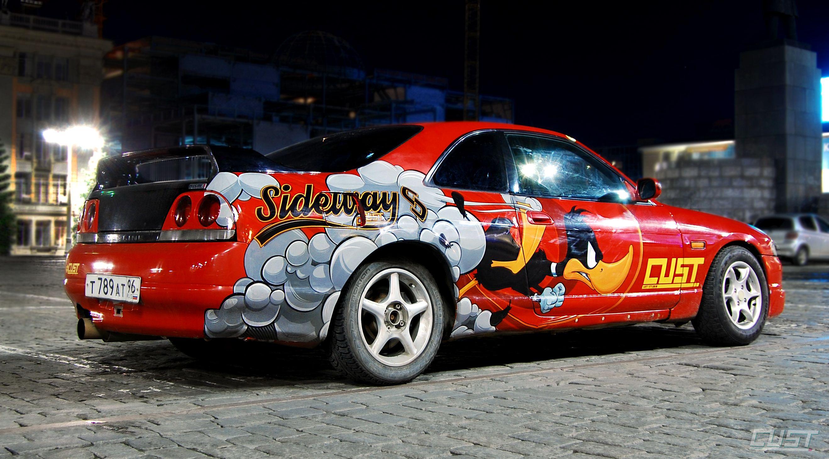 Art Car Skyline R33 Vehicle Wrap By Cust Cust Pinterest Cars