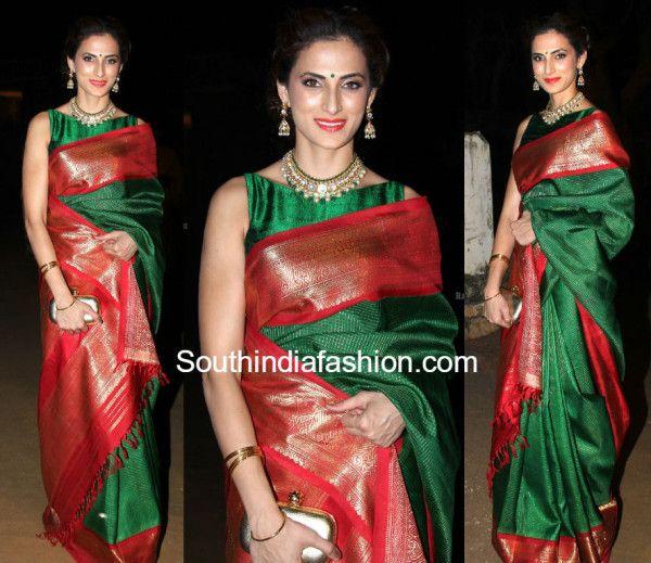 9aa079cb7e4c36 Shilpa Reddy in a Traditional Saree