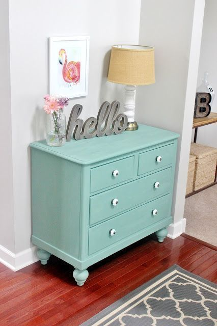 Dresser Makeover With Martha Stewartu0027s Vintage Decor Chalk Paint. The Color  Is Called Eucalyptus And Itu0027s From Martha Stewartu0027s Vintage Decor Chalk  Paint ...