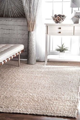 hand woven hailey jute bleached area rug size 9 x 12 products rh pinterest com